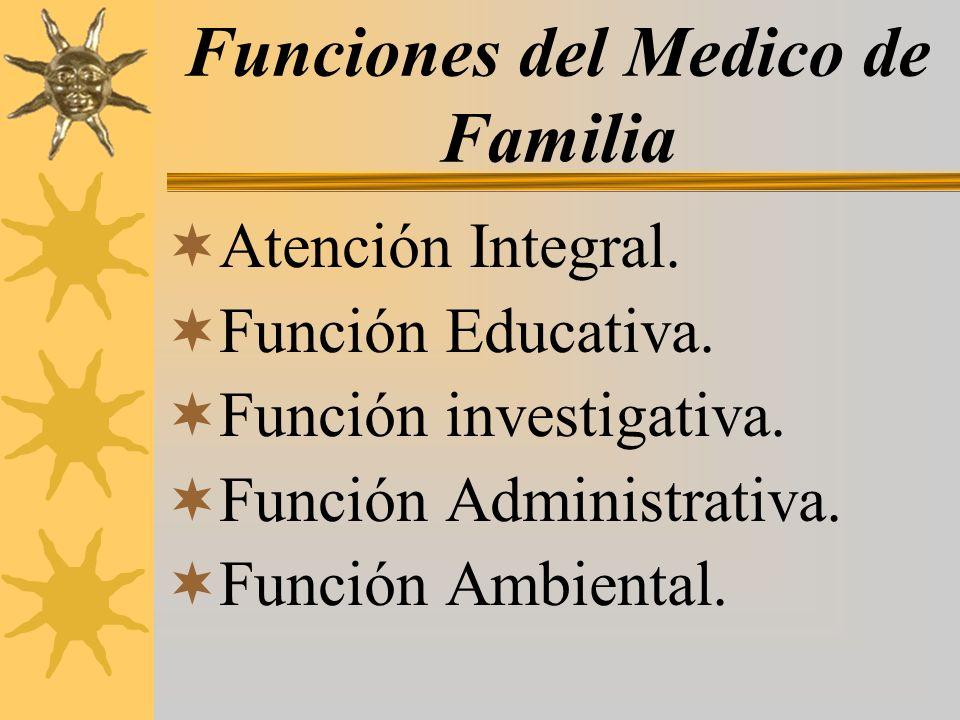 Funciones del Medico de Familia