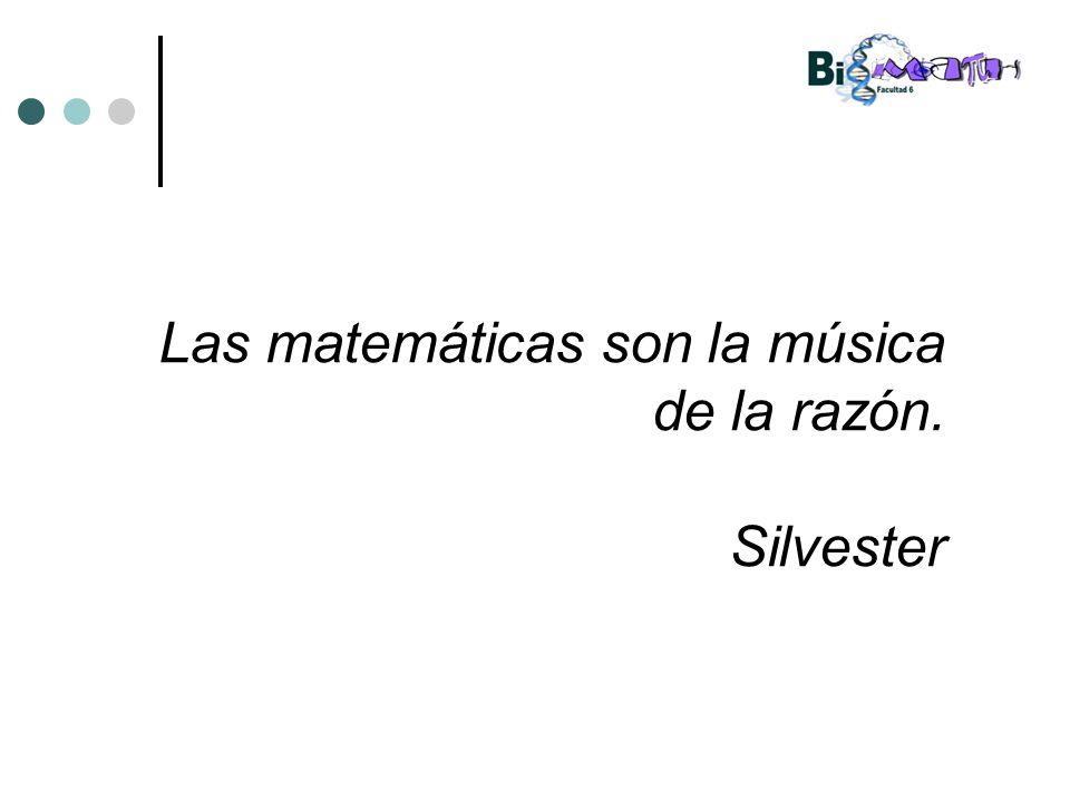 Las matemáticas son la música de la razón. Silvester