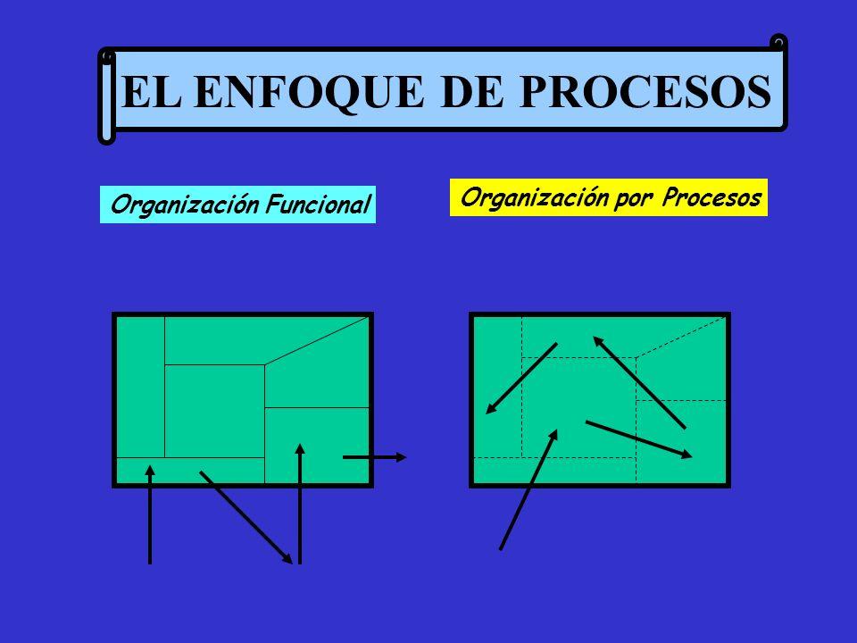 EL ENFOQUE DE PROCESOS Organización por Procesos