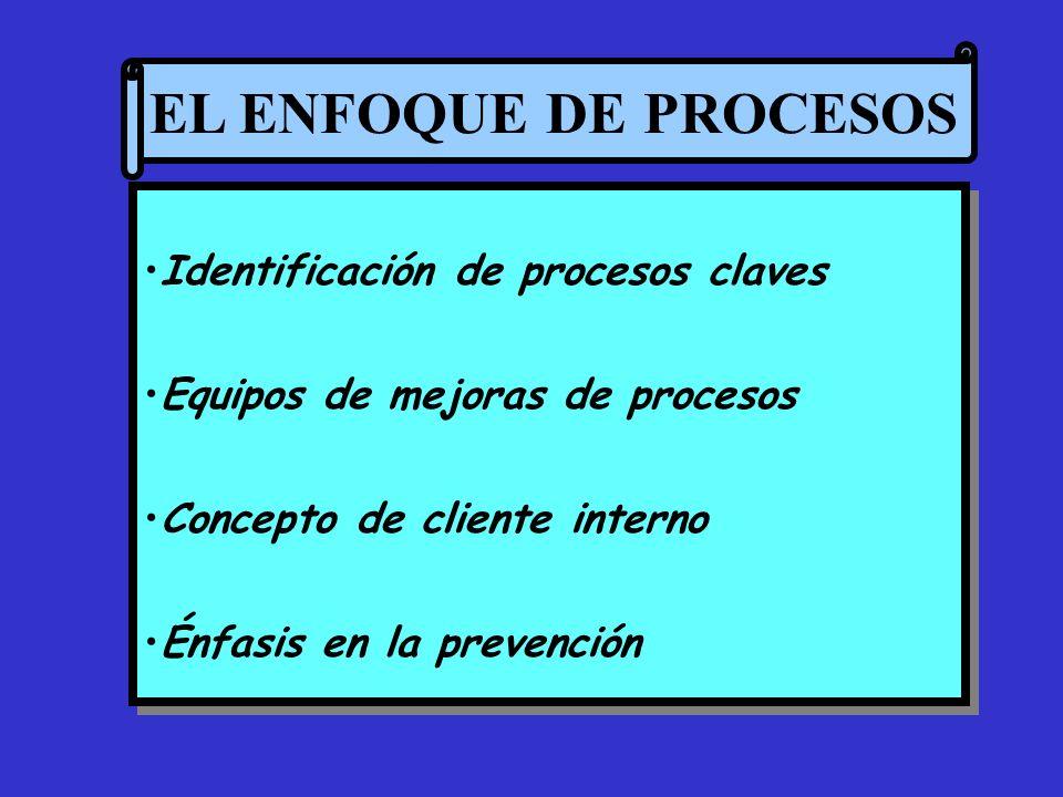 EL ENFOQUE DE PROCESOS Identificación de procesos claves