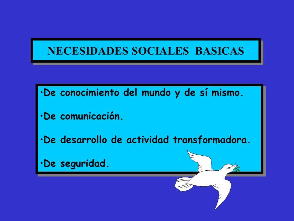 NECESIDADES SOCIALES BASICAS