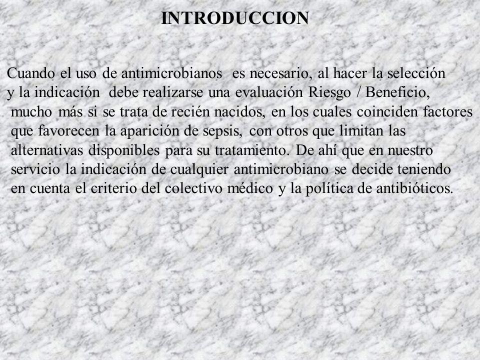 INTRODUCCIONCuando el uso de antimicrobianos es necesario, al hacer la selección.