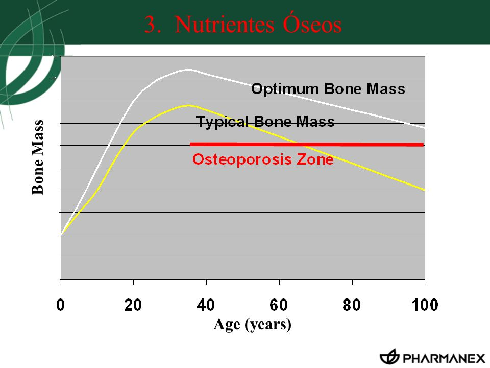 3. Nutrientes Óseos Bone Mass Age (years)