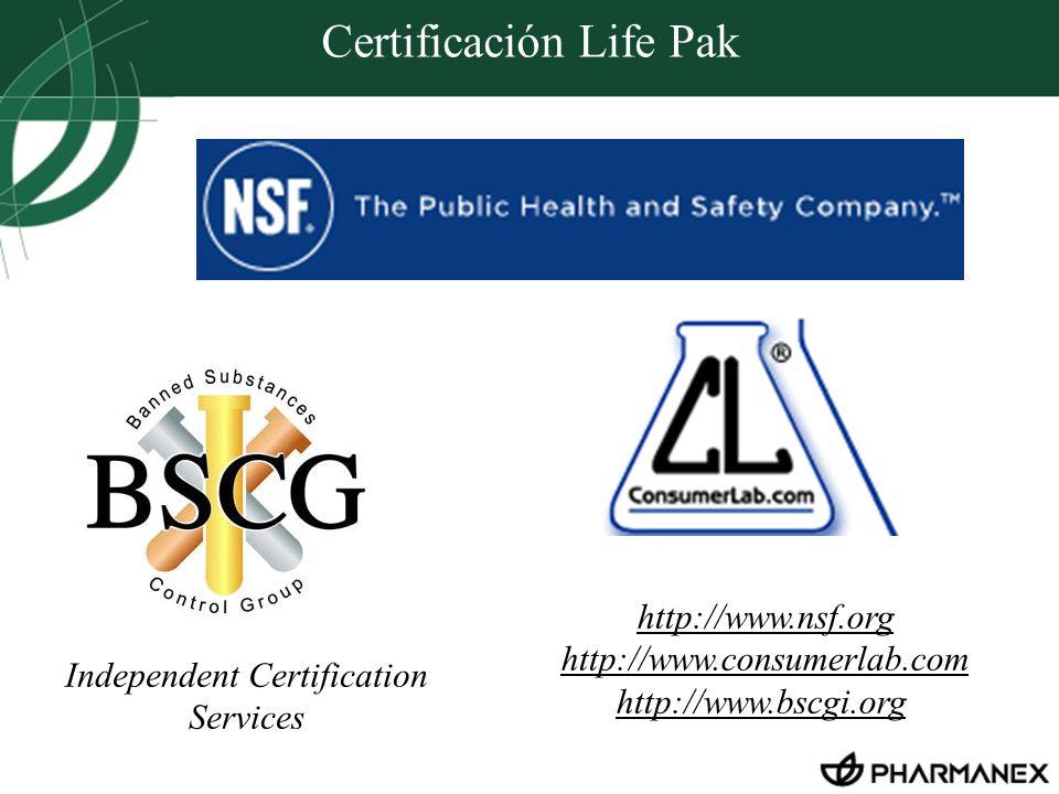 Certificación Life Pak