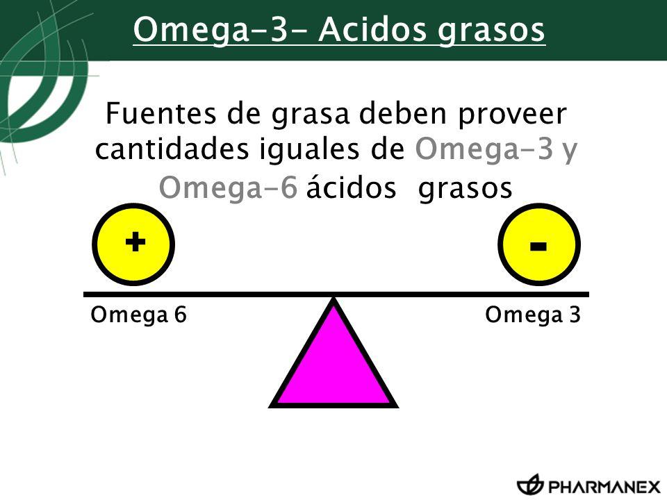- + Omega-3- Acidos grasos