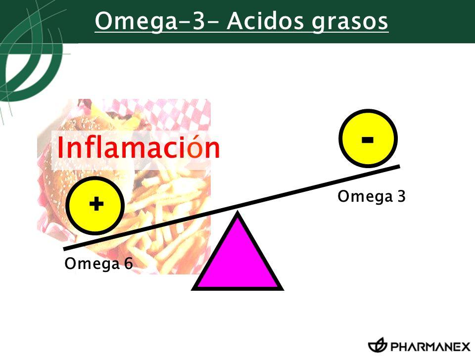 Omega-3- Acidos grasos - Inflamación + Omega 3 Omega 6