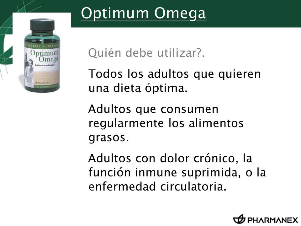 Optimum Omega Quién debe utilizar .