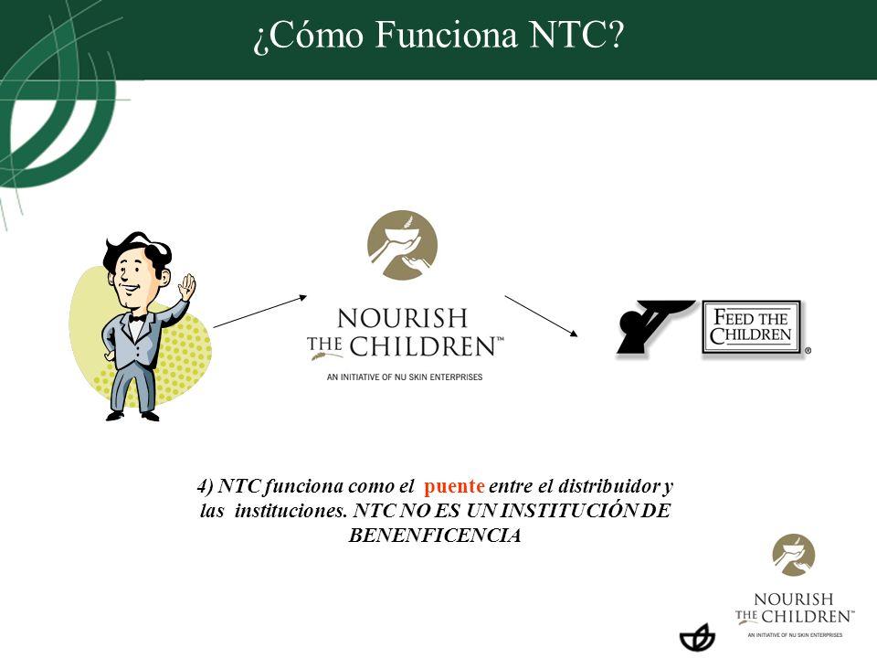 ¿Cómo Funciona NTC. 4) NTC funciona como el puente entre el distribuidor y las instituciones.