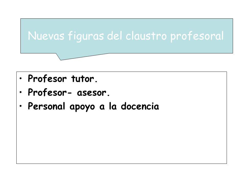 Nuevas figuras del claustro profesoral