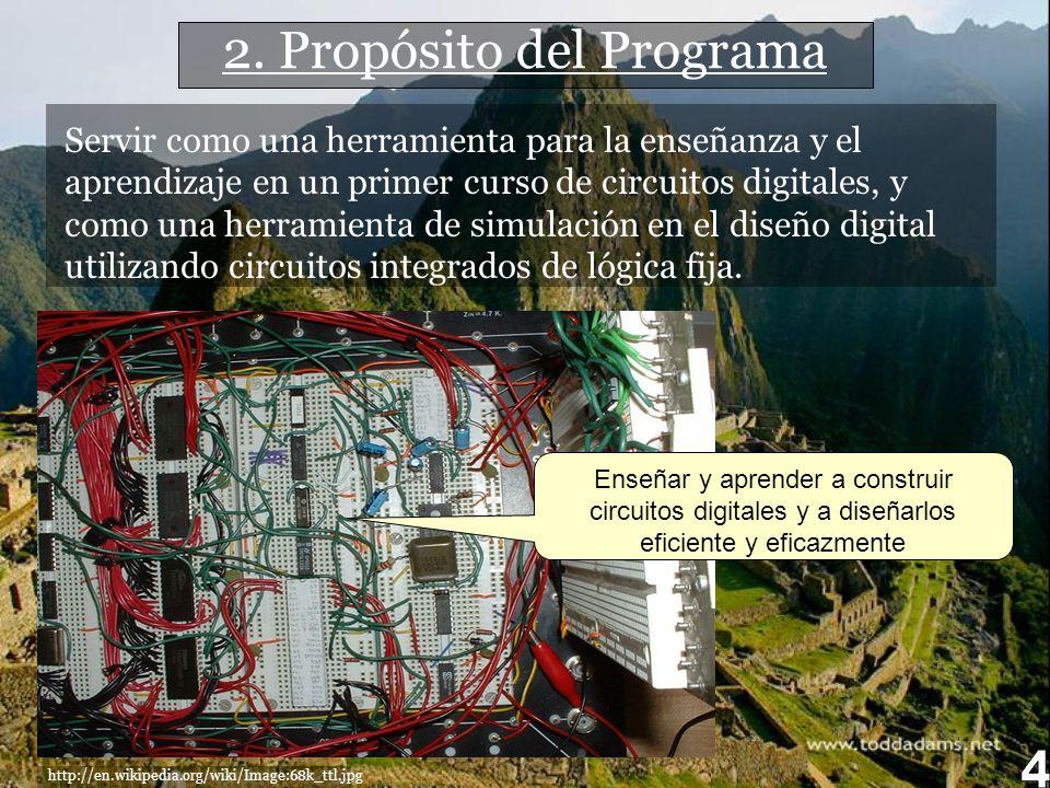 2. Propósito del Programa
