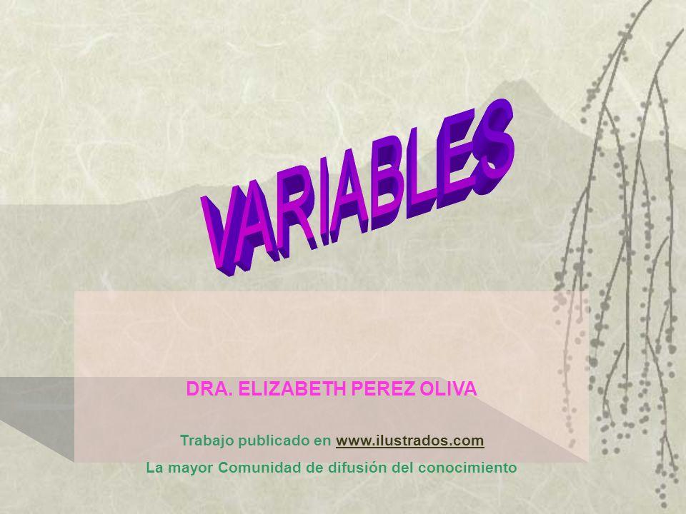 VARIABLES DRA. ELIZABETH PEREZ OLIVA