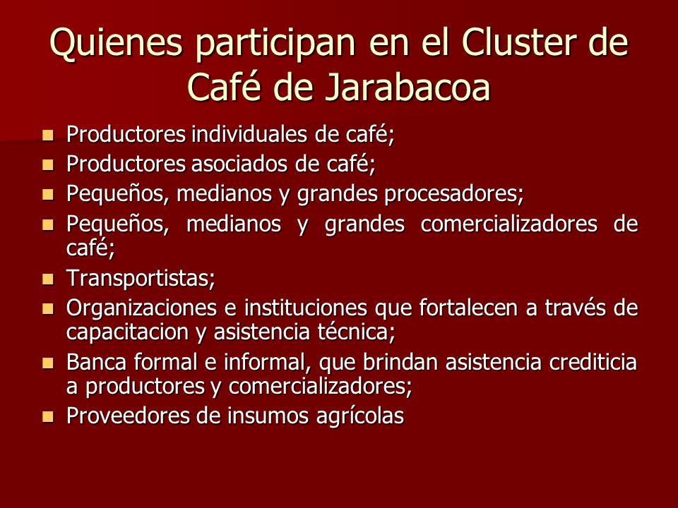 Quienes participan en el Cluster de Café de Jarabacoa