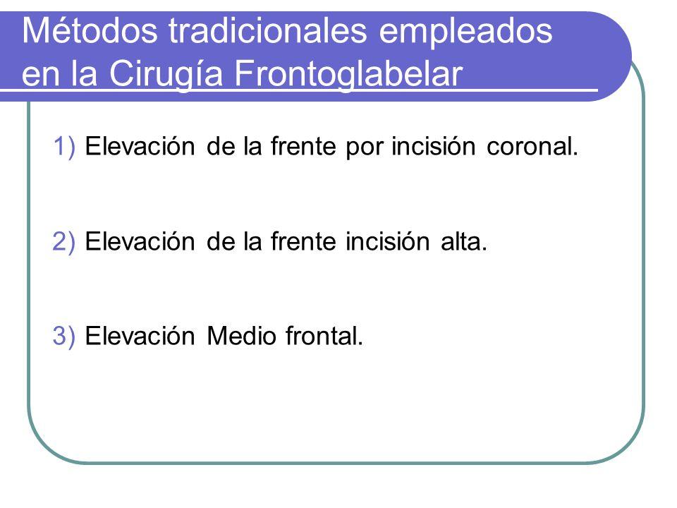 Métodos tradicionales empleados en la Cirugía Frontoglabelar