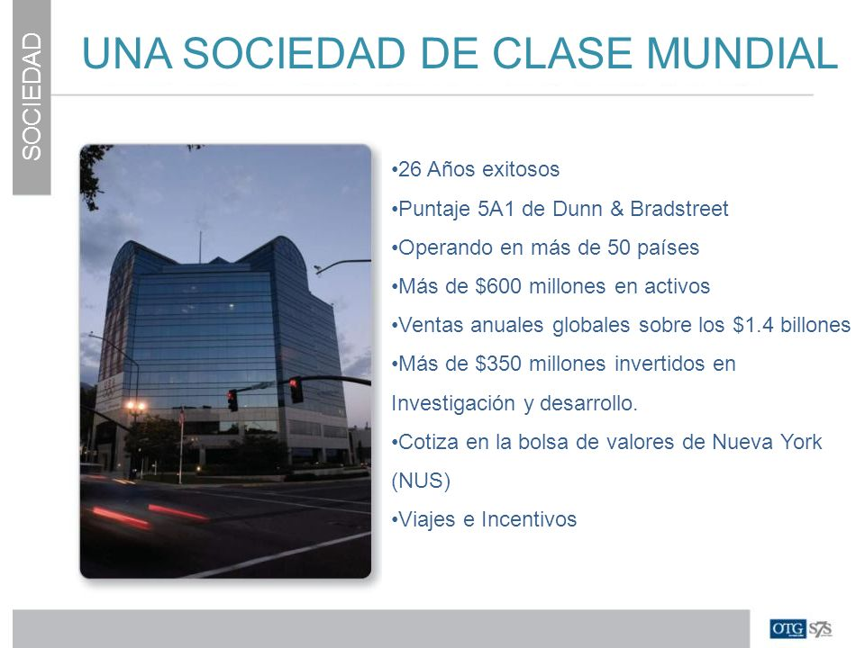 UNA SOCIEDAD DE CLASE MUNDIAL