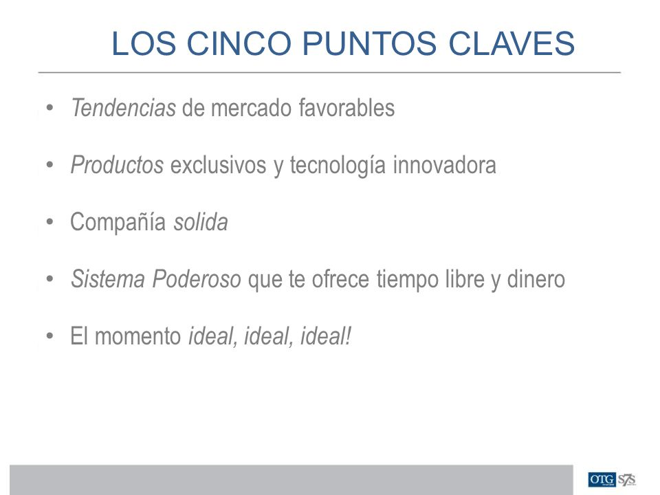 LOS CINCO PUNTOS CLAVES