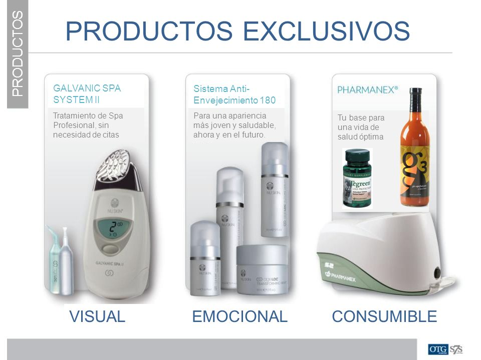 PRODUCTOS EXCLUSIVOS VISUAL EMOCIONAL CONSUMIBLE PRODUCTOS