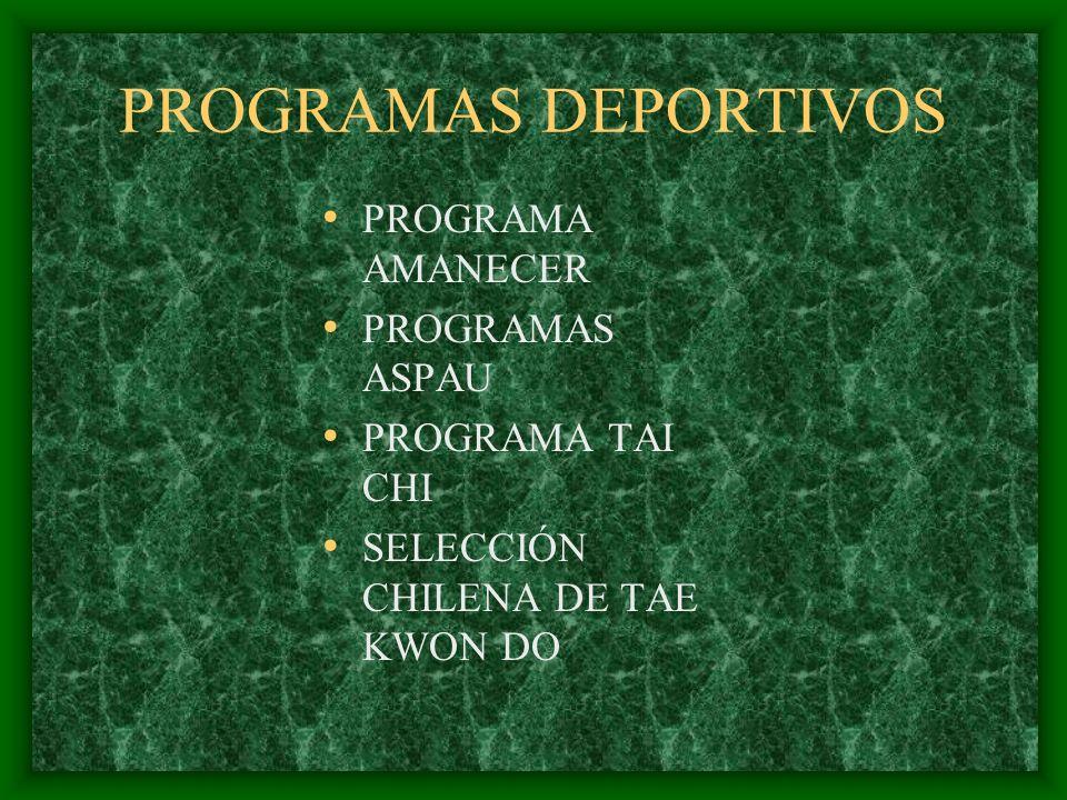 PROGRAMAS DEPORTIVOS PROGRAMA AMANECER PROGRAMAS ASPAU