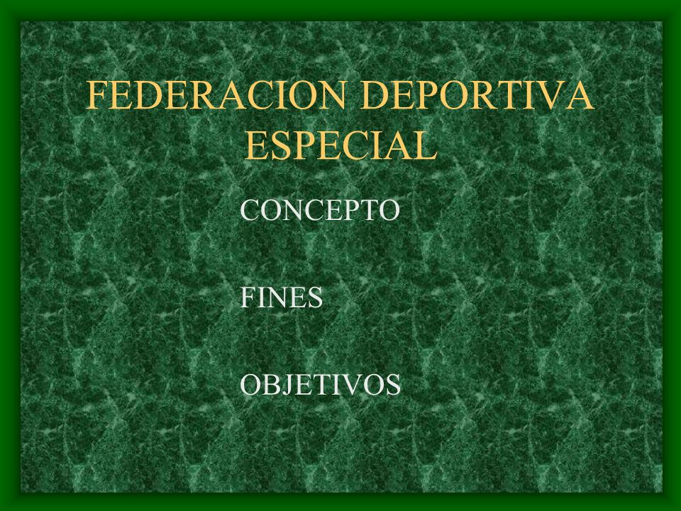 FEDERACION DEPORTIVA ESPECIAL