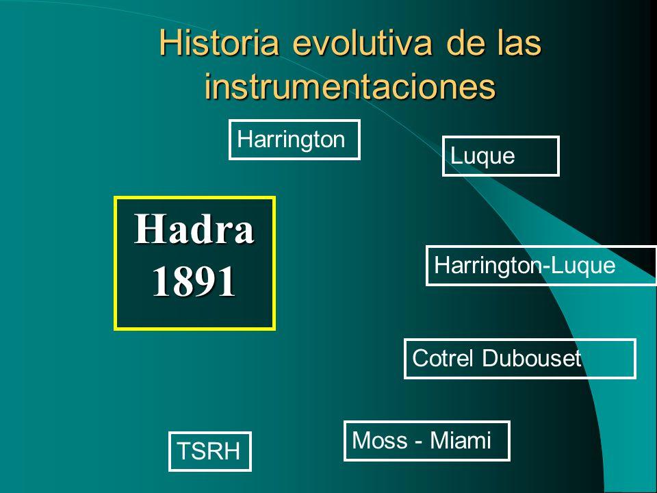 Historia evolutiva de las instrumentaciones