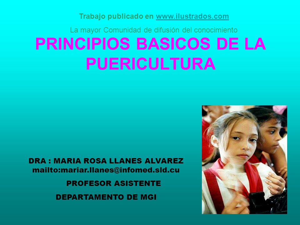 PRINCIPIOS BASICOS DE LA PUERICULTURA