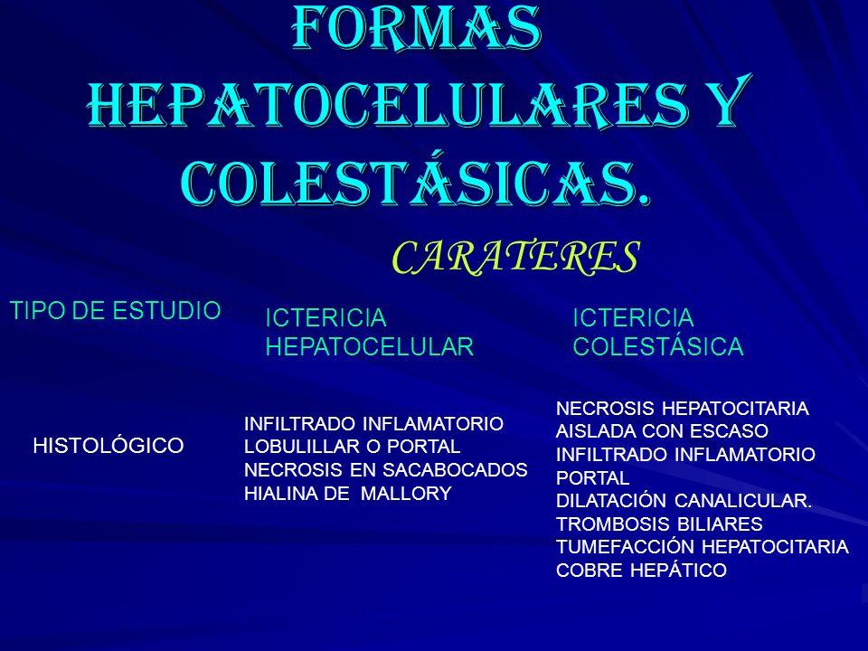 FORMAS HEPATOCELULARES Y COLESTÁSICAS.