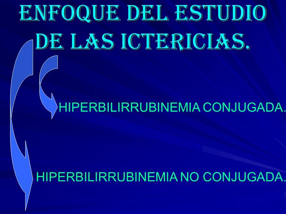 ENFOQUE DEL ESTUDIO DE LAS ICTERICIAS.