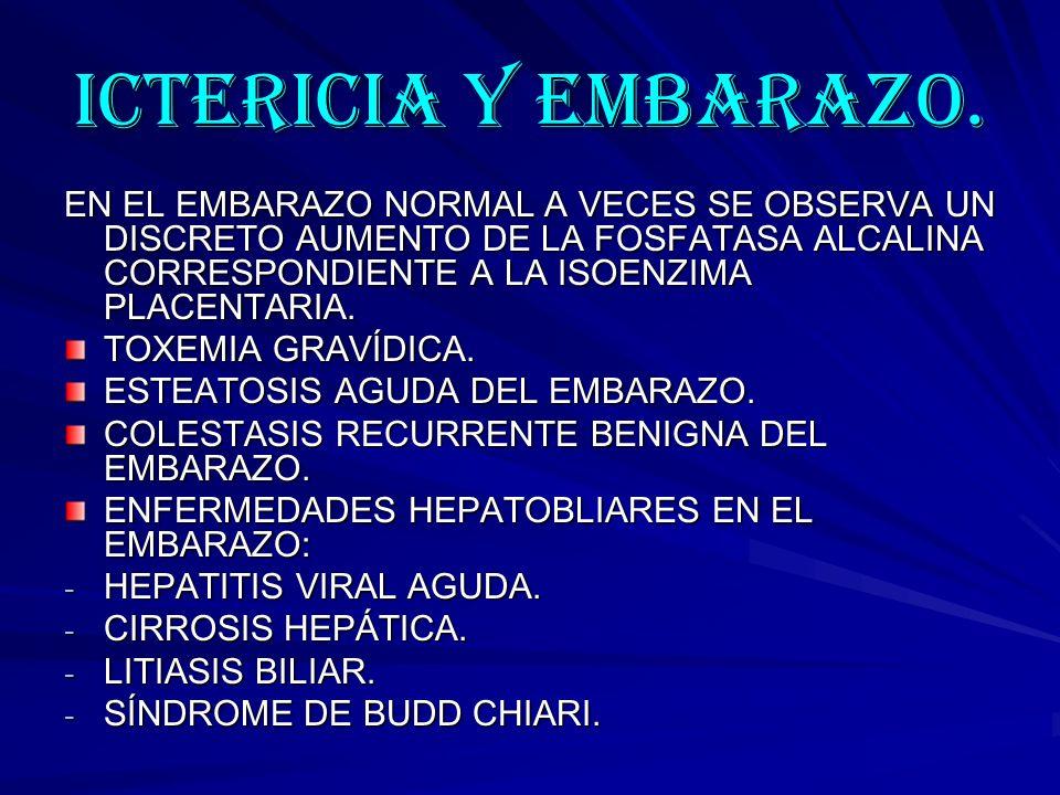 ICTERICIA Y EMBARAZO.