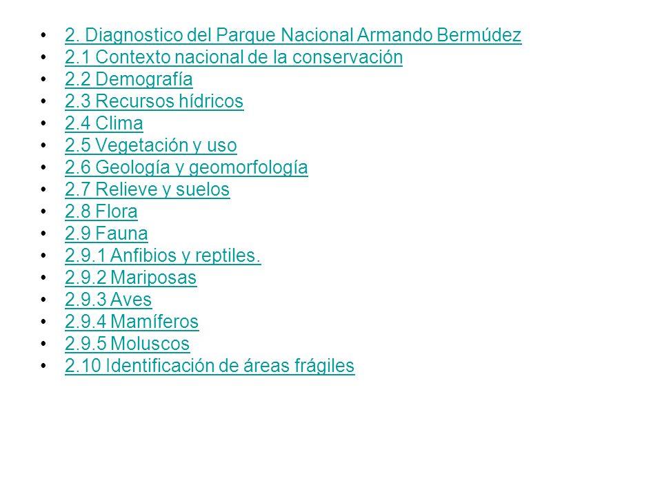2. Diagnostico del Parque Nacional Armando Bermúdez