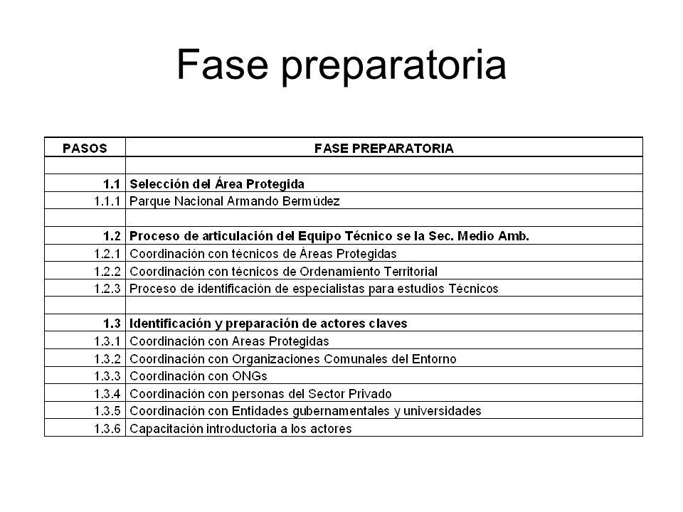 Fase preparatoria