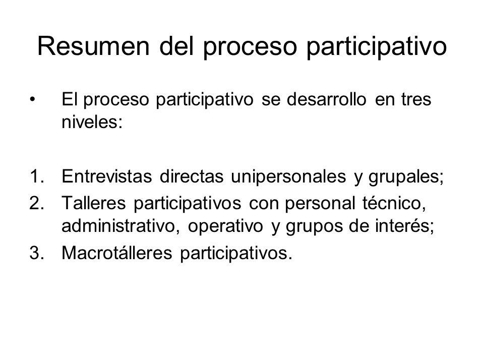 Resumen del proceso participativo