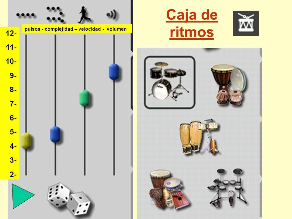 Caja de ritmos 12- 11- 10- 9- 8- 7- 6- 5- 4- 3- 2-