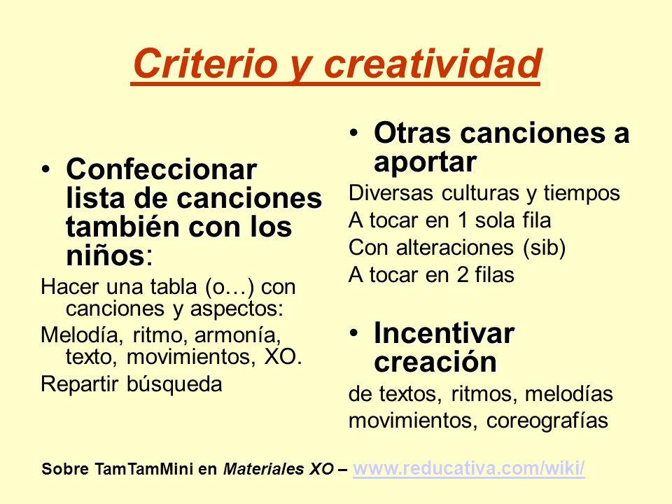 Criterio y creatividad