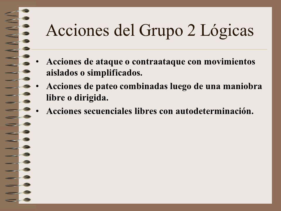 Acciones del Grupo 2 Lógicas