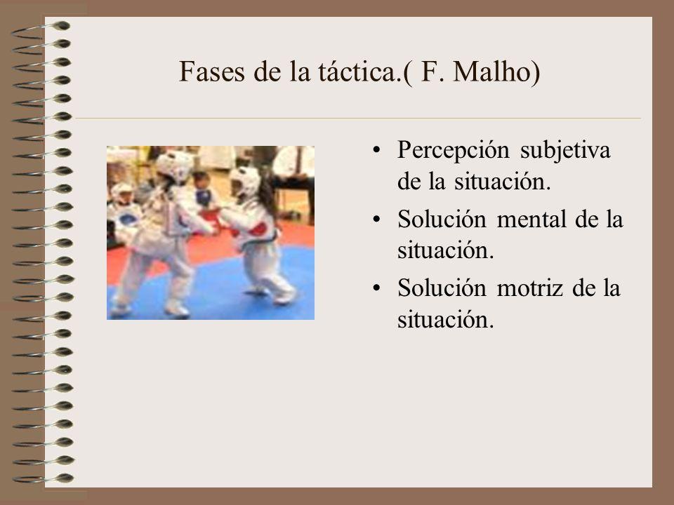 Fases de la táctica.( F. Malho)