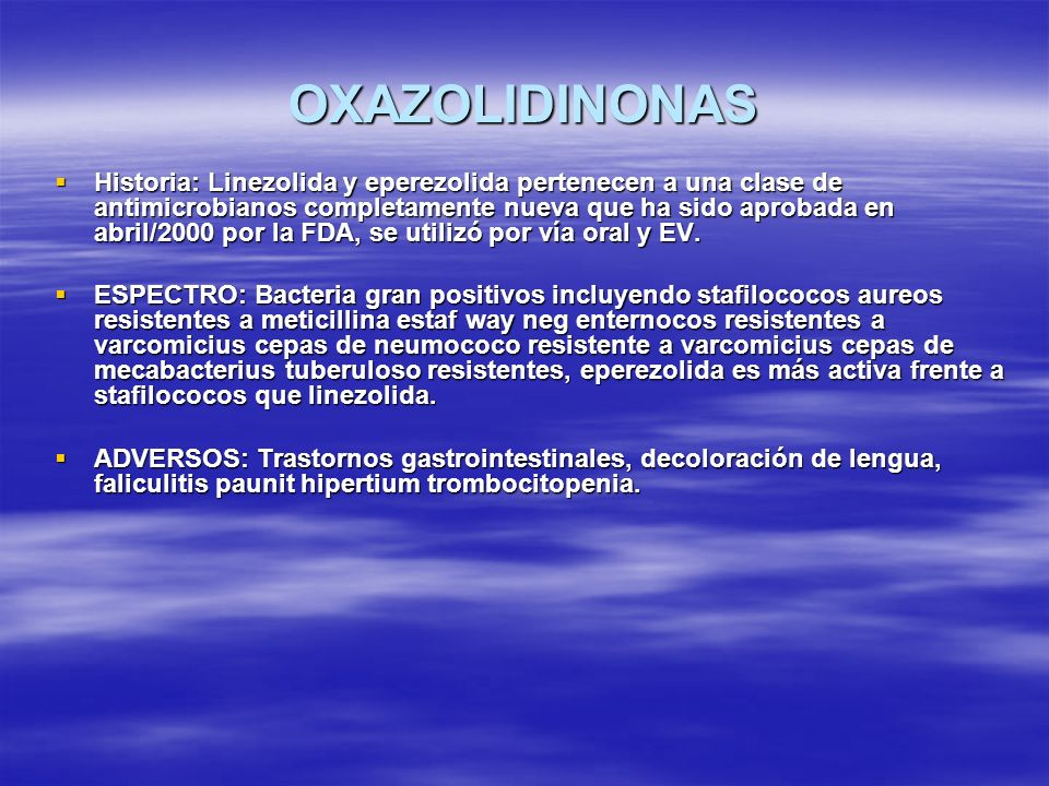 OXAZOLIDINONAS
