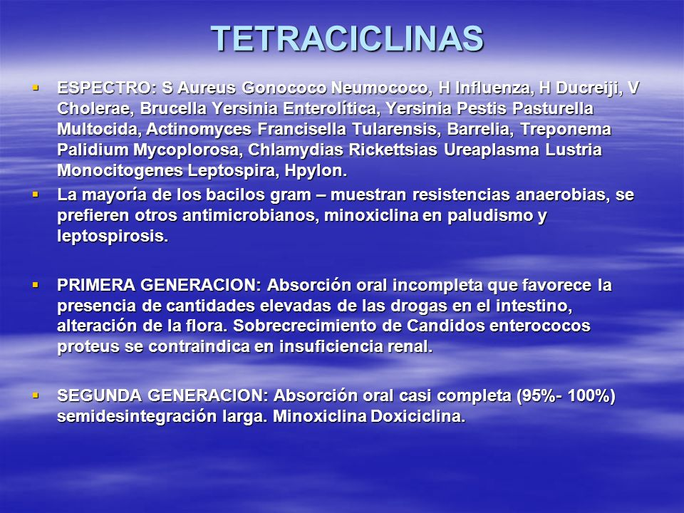 TETRACICLINAS