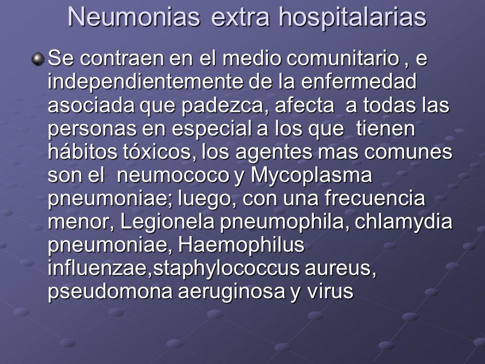 Neumonias extra hospitalarias