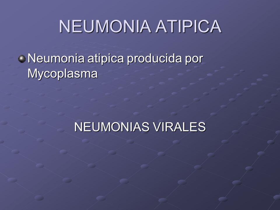 NEUMONIA ATIPICA Neumonia atipica producida por Mycoplasma