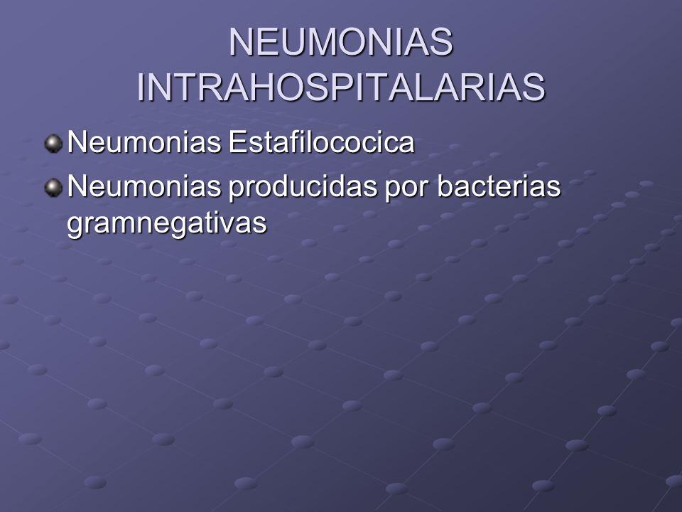 NEUMONIAS INTRAHOSPITALARIAS