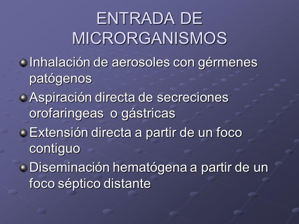 ENTRADA DE MICRORGANISMOS