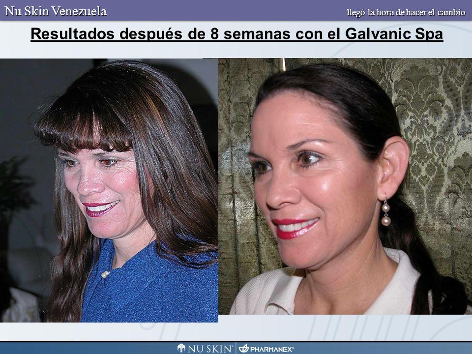 Resultados después de 8 semanas con el Galvanic Spa