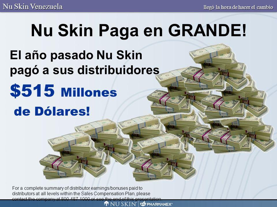 Nu Skin Paga en GRANDE! $515 Millones