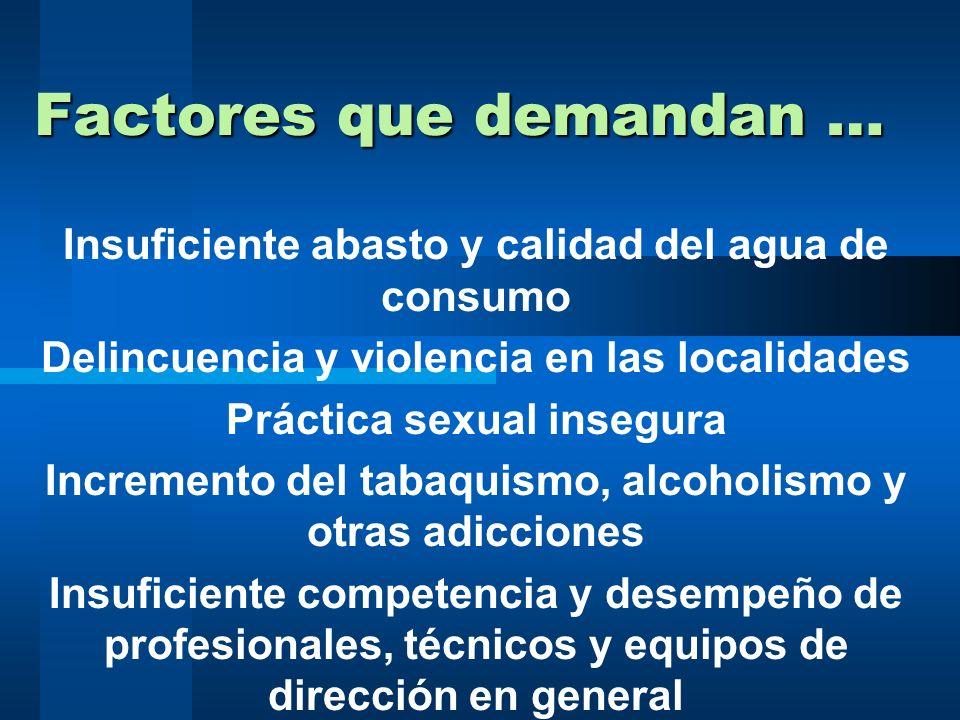 Factores que demandan …