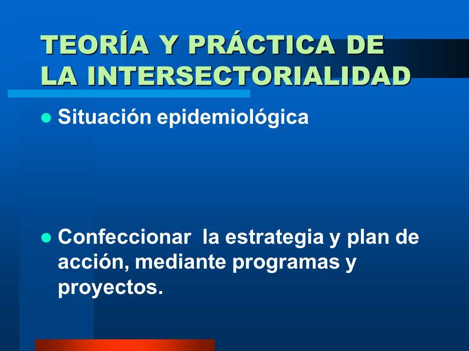 TEORÍA Y PRÁCTICA DE LA INTERSECTORIALIDAD