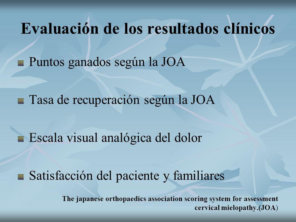Evaluación de los resultados clínicos