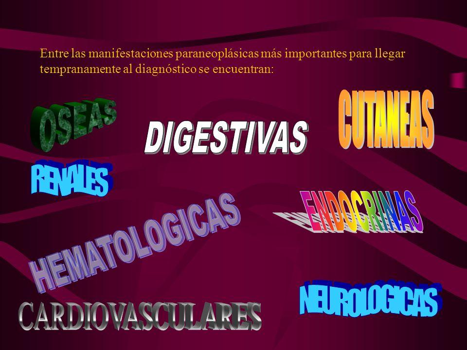 CUTANEAS OSEAS DIGESTIVAS RENALES ENDOCRINAS HEMATOLOGICAS