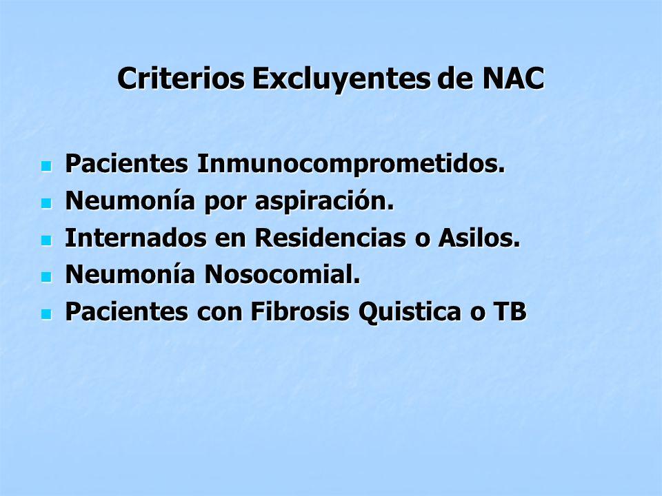 Criterios Excluyentes de NAC