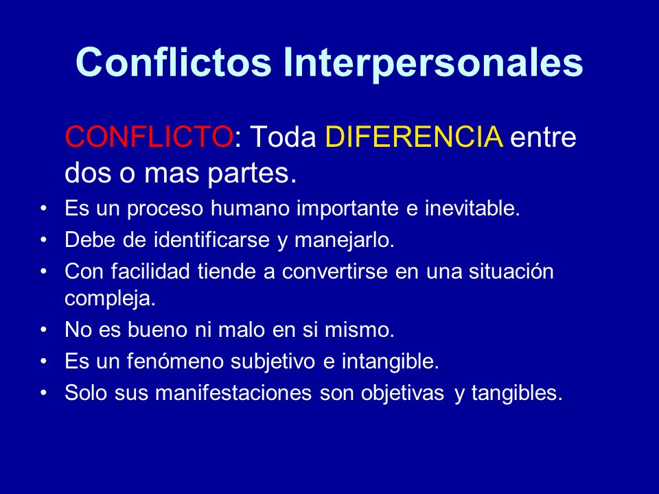 Conflictos Interpersonales