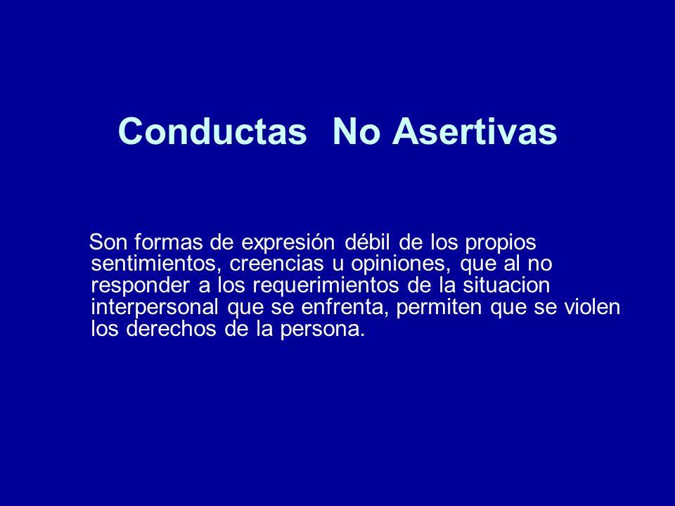 Conductas No Asertivas