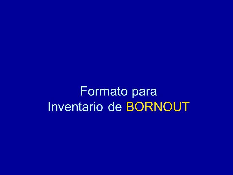 Formato para Inventario de BORNOUT